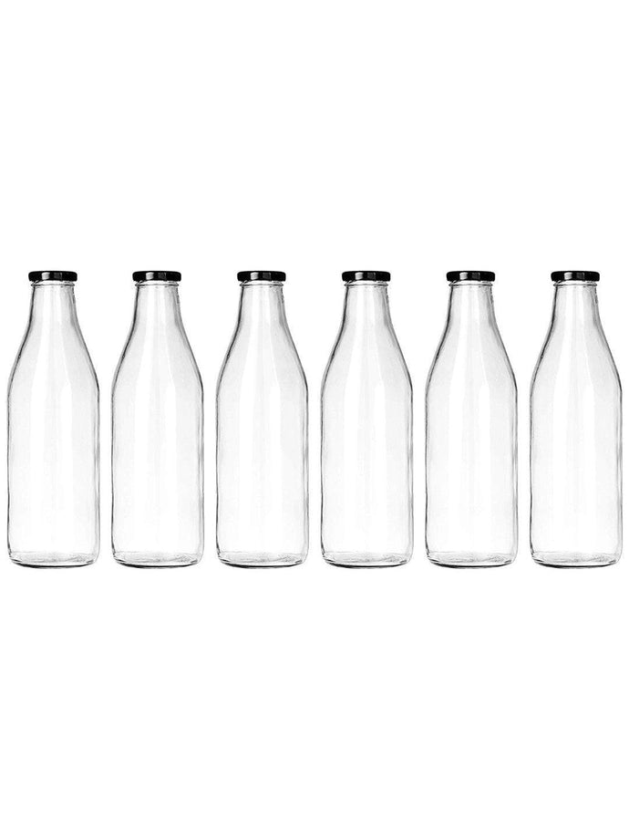 Smartserve Glass Bottle with lid, 6/4 Pieces, 1000ml