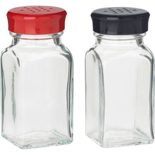 Load image into Gallery viewer, Trudeau Maison Wink Glass Salt N Pepper Shake Set, Set of 2, Red/Black