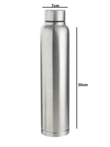 Smartserve Glass Bottle with lid, 6 pieces, 1000ml, Transparent