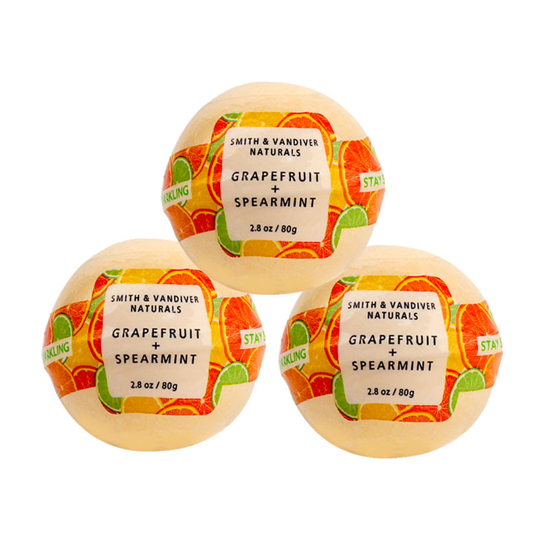 S&V Naturals Bath Bomb 2.8oz Stay Sparkling 3pc