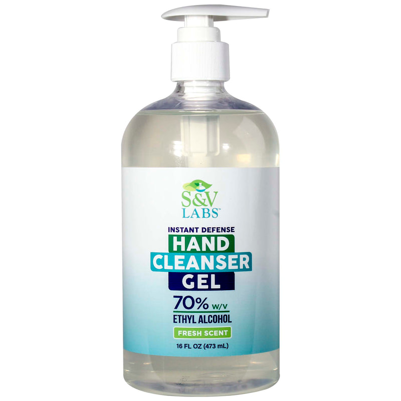 Instant Hand Cleanser Fresh Scent 16oz Gel Pump