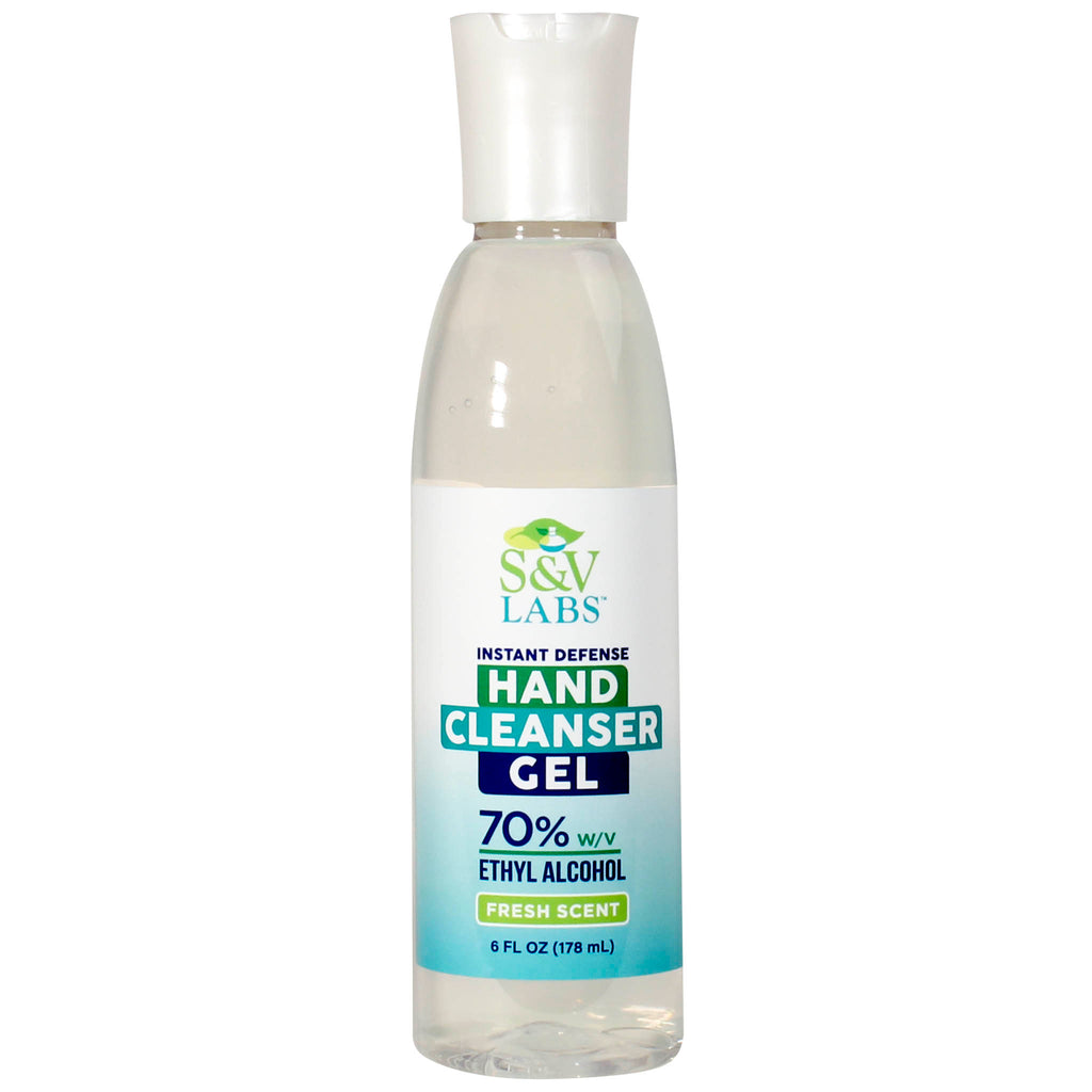 Hand Cleanser Fresh Scent 6oz Gel Bottle