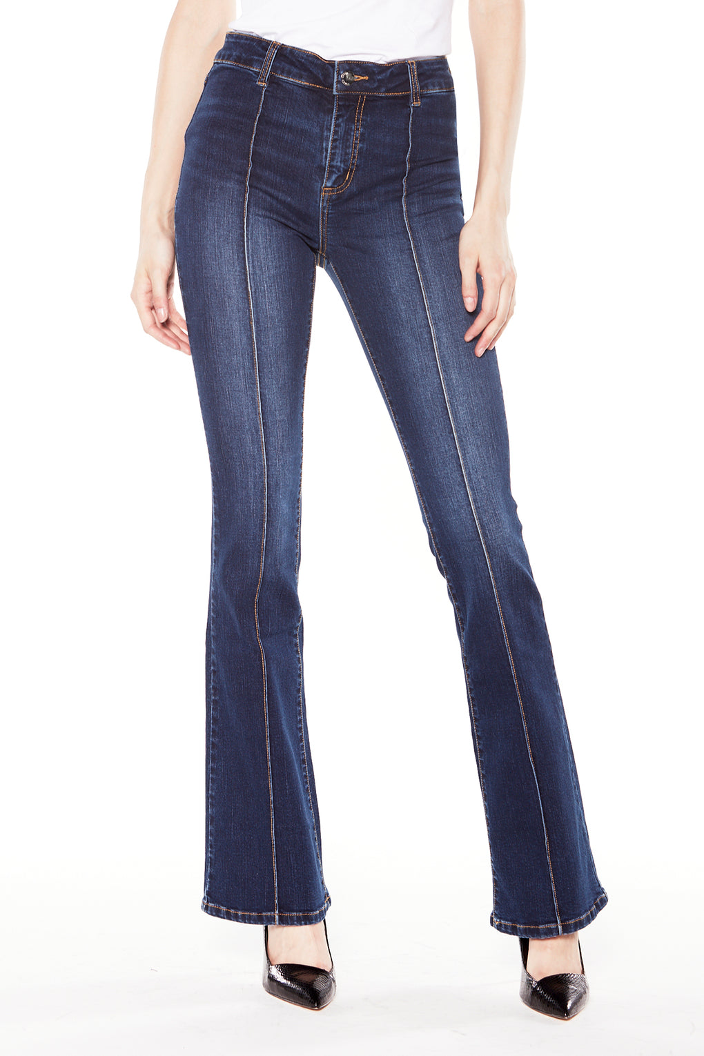 STEVIE - Hight Rise Flare Leg Jean (FX-STEVIE-SKY)