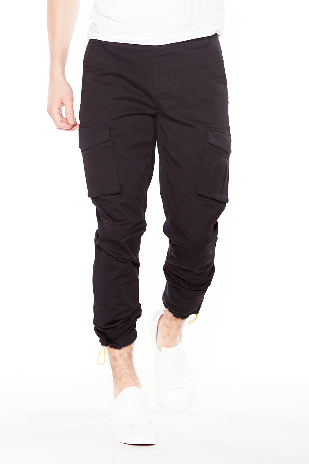 DEAN - Pull On Slim Cut Cargo Chinos (DEAN-FST Black)
