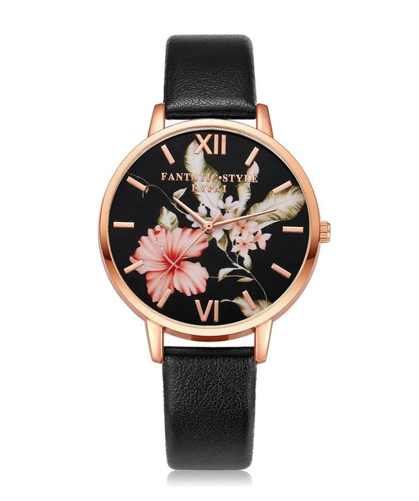 Women Flowers Bracelet Watch