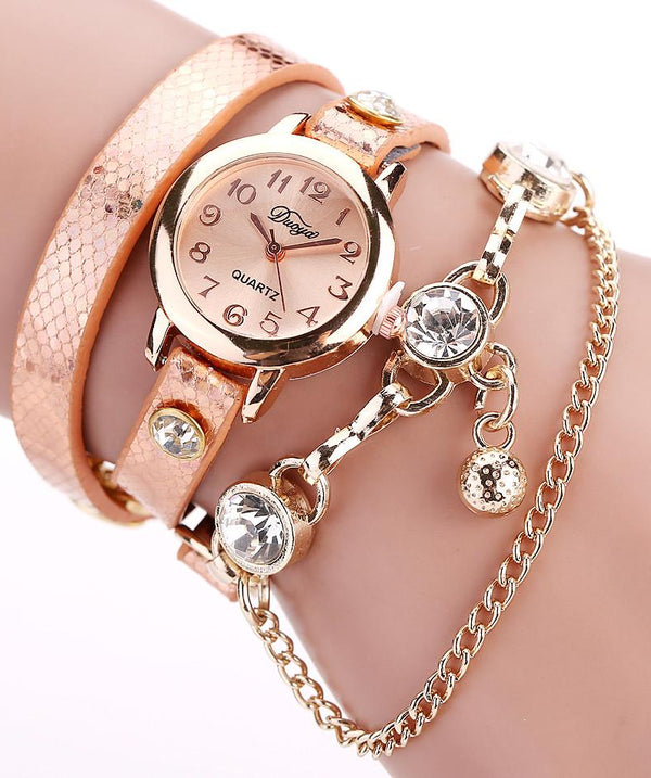 Women Bracelet PU Leather Watch