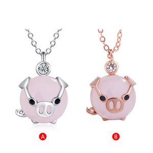 Women Worlds Fashion Necklace - Pig Edition