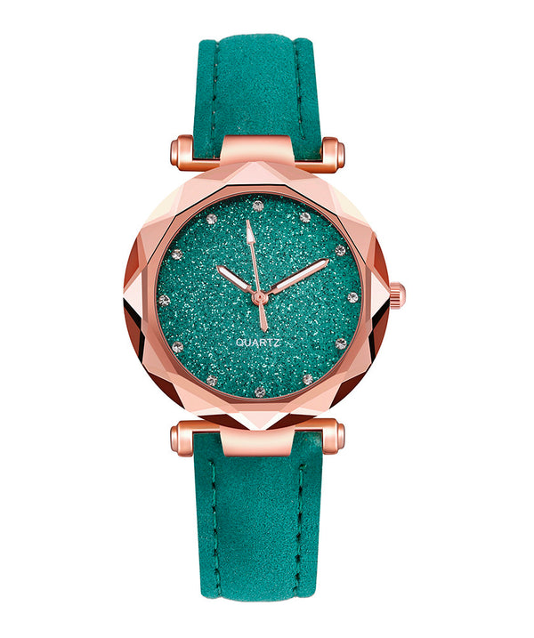 Korean Rhinestone Rose Gold Watch