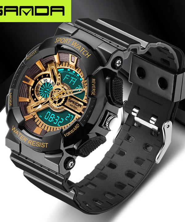 Powerful Men Sport Watch PU Resin