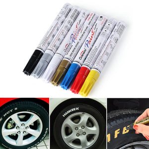 Tire Designer Pen Waterproof Creativity Enhancer - 7 Colors