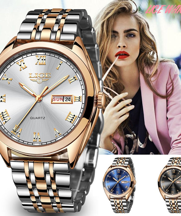 Unisex Luxury Watch Rose Gold