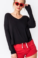 Basic Black Long Sleeve Shirt