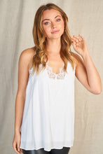 Load image into Gallery viewer, Lace Detail Tank - White
