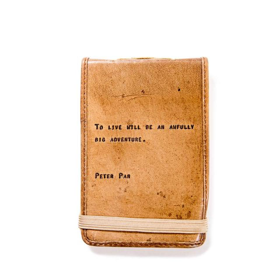 Mini Leather Journal - Peter Pan