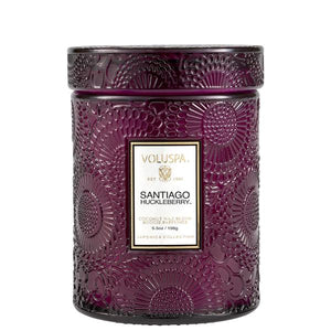 Santiago Huckleberry Small Glass Jar Candle