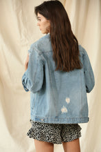 Load image into Gallery viewer, Oversized Distressed Denim Jacket