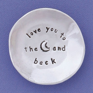 Love You To The Moon Charm Bowl