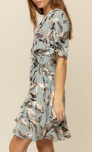 Load image into Gallery viewer, Shadow Floral Wrap Dress