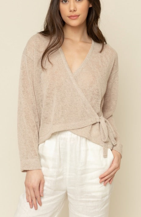 Light Knit Wrap Top