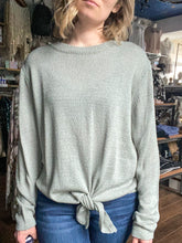 Load image into Gallery viewer, Tie Front Knit Top - Green Mint