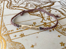 Load image into Gallery viewer, Choose Love Braided Bracelet - (Brown/Gold, Grey/Slate)