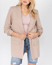 Load image into Gallery viewer, 3/4 Sleeve Khaki Blazer