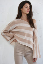 Load image into Gallery viewer, Knit Striped Sweater with Sewn Sleeves