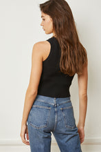 Load image into Gallery viewer, Knit Crew Crop Top - Black