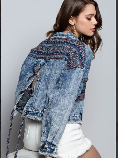 Aztec Denim Jacket