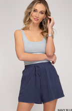 Load image into Gallery viewer, Linen Shorts - Navy