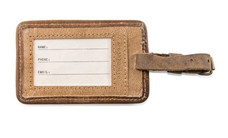 Leather Luggage Tag - Henry Miller