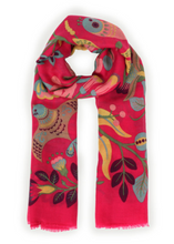 Load image into Gallery viewer, South American Print Scarf - Fuchsia