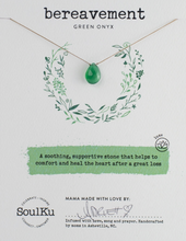 Load image into Gallery viewer, Green Onyx Luxe Necklace - Bereavement
