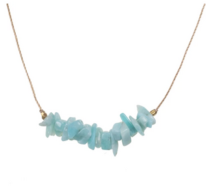 Seed Necklace - Amazonite