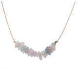 Seed Necklace - Morganite