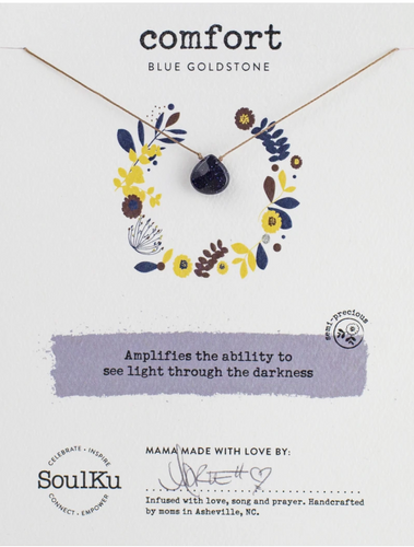 Soul-Full Necklace - Blue Gold Stone