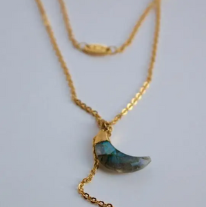 To The Moon & Back Necklace - Semi Precious