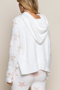 Cloud Nine Dazzling Star Hoodie - White