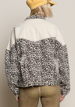 Load image into Gallery viewer, Leopard Denim Jacket