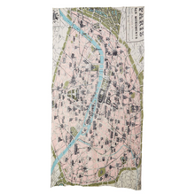 Load image into Gallery viewer, Paris Map Scarf