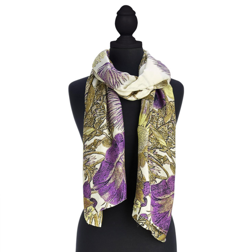 Purple Thistle Scarf