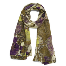 Load image into Gallery viewer, Purple Thistle Scarf