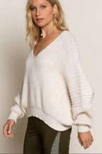 Load image into Gallery viewer, Almond V Neck Sweater