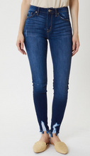 Load image into Gallery viewer, High Rise Super Skinny Distressed Hem Jeans