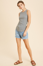 Load image into Gallery viewer, Ribbed Tank - Heather Grey