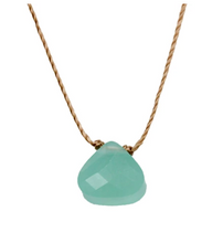 Load image into Gallery viewer, Soul Shine Necklace - Turquoise Blue Crystal