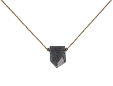Load image into Gallery viewer, Warrior Stone Necklace - Black Sunstone