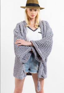 Misty Grey Handmade Cardigan