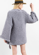 Load image into Gallery viewer, Misty Grey Handmade Cardigan