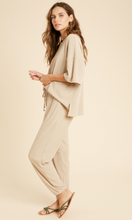 Load image into Gallery viewer, Ribbed Knit Joggers- Taupe